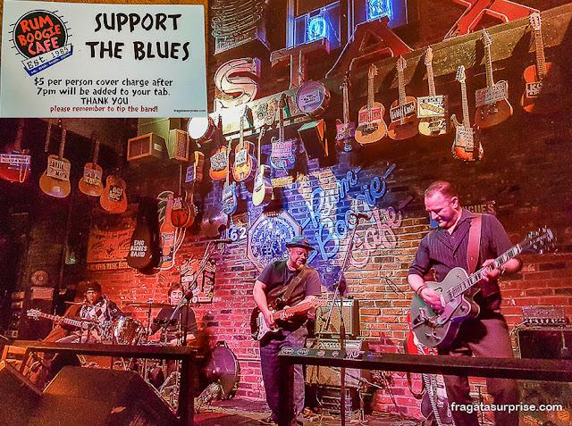 Show de Blues na Beale Street, Memphis