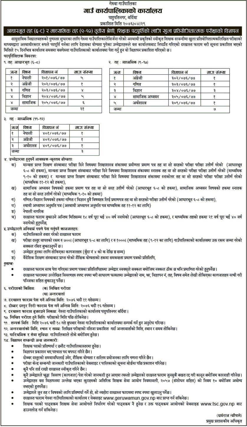Government Jobs For Teachers