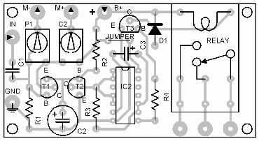 Parts Placement Layout Voice Operated Switch