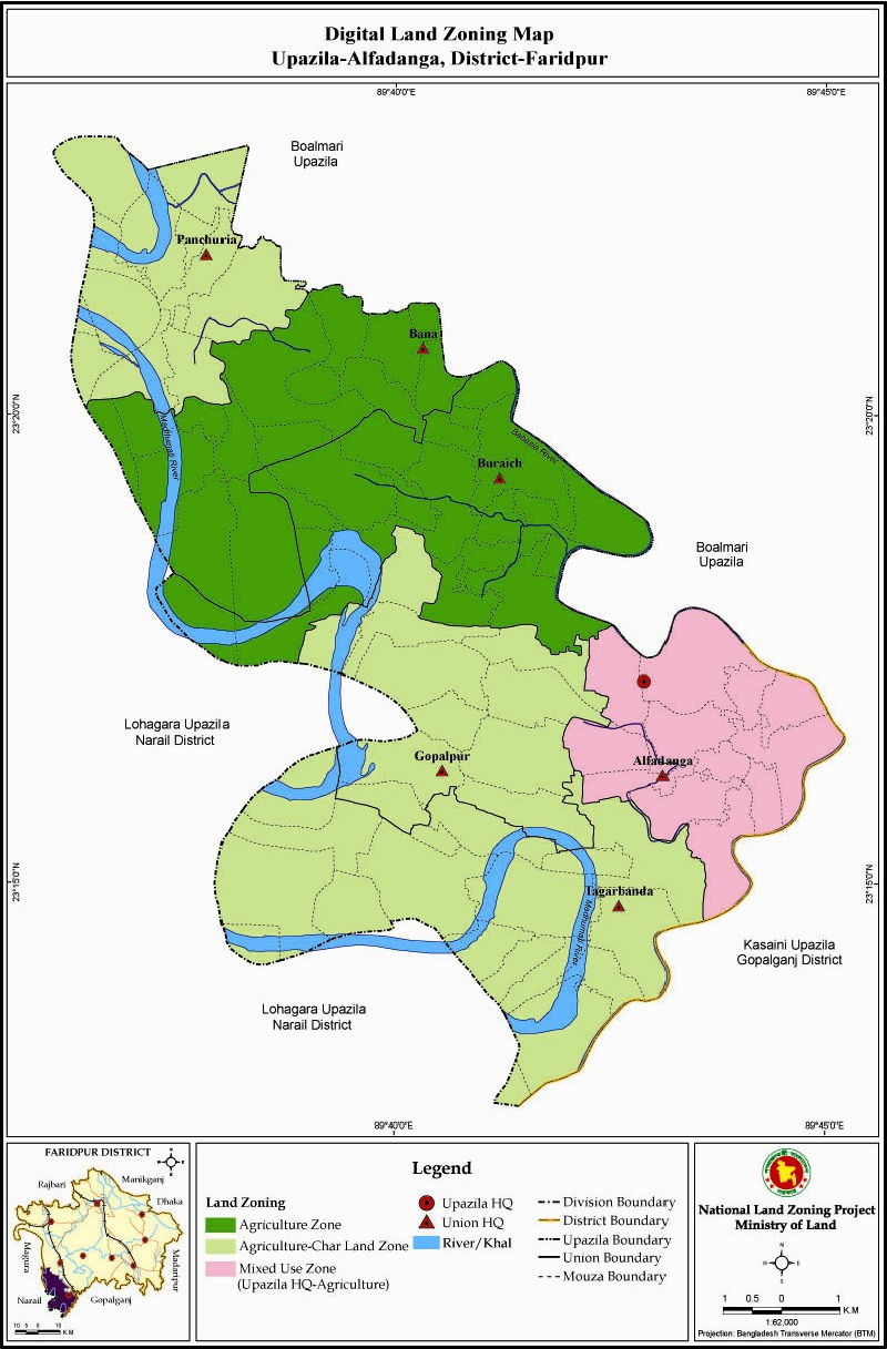 Alfadanga Upazila Mouza Map Faridpur District Bangladesh