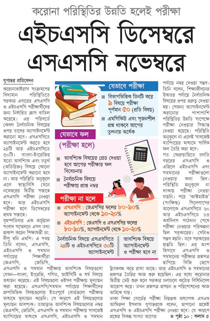 SSC Exam Date 2021 in Bangladesh