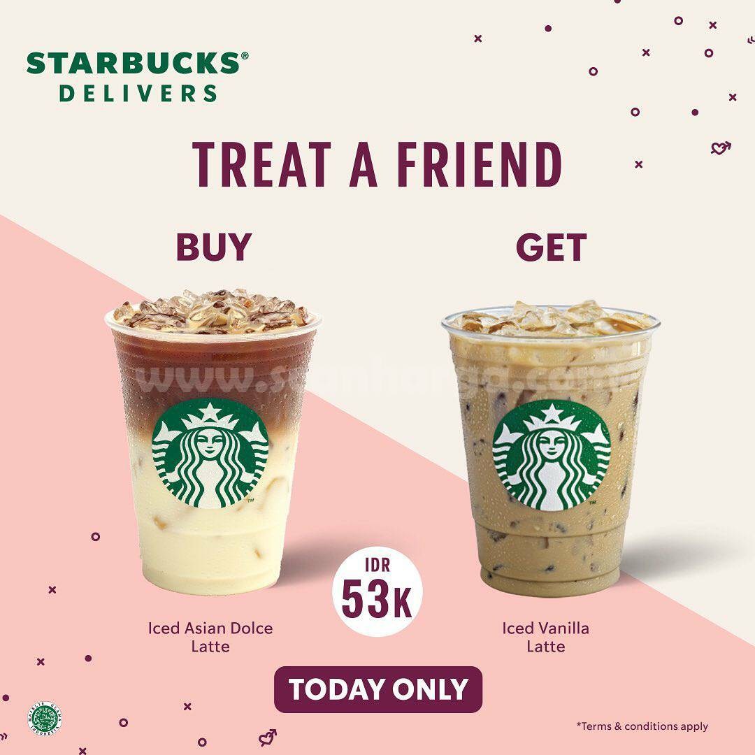 STARBUCKS TREAT A FRIEND! Promo Beli 1 Gratis 1