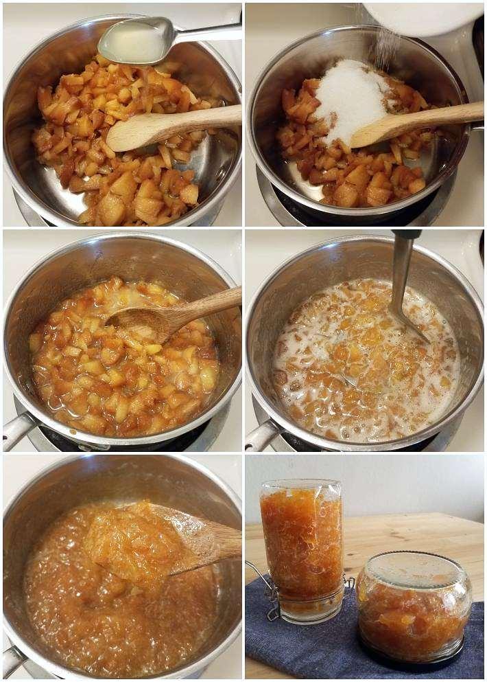 Cómo hacer la mermelada de melocotón paso a paso, collage 6 fotos