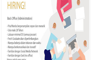 Lowongan Kerja Bandung Staff Back Office Administration B.E.D