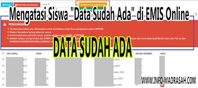 """Mengatasi Siswa """"Data Sudah Ada"""" di EMIS Online"""