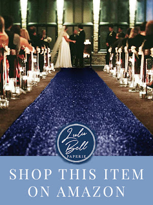Navy Blue Aisle Runway with Sparkling Sequins