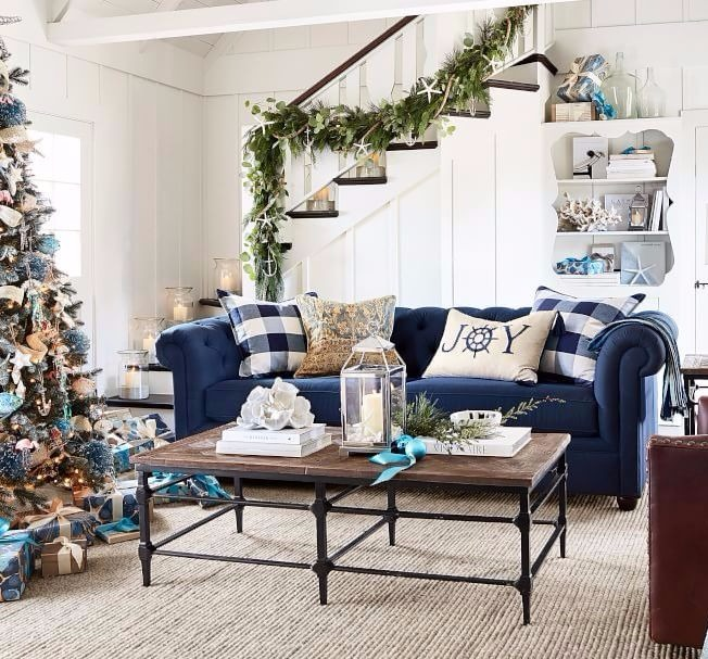 Coastal Christmas at Pottery Barn