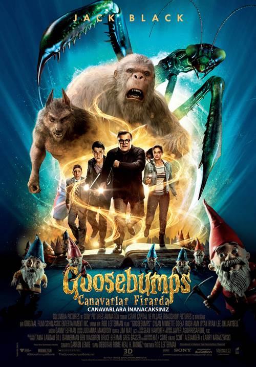 Goosebumps: Canavarlar Firarda (2015) 720p Film indir