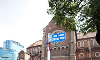 Basilica of Notre Dame de Saigon. Cong Xa Paris. Ho Chi Minh City. Vietnam