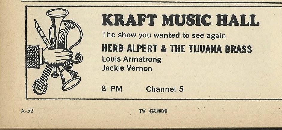 The TV Guide Historian: Kraft Music Hall Ad