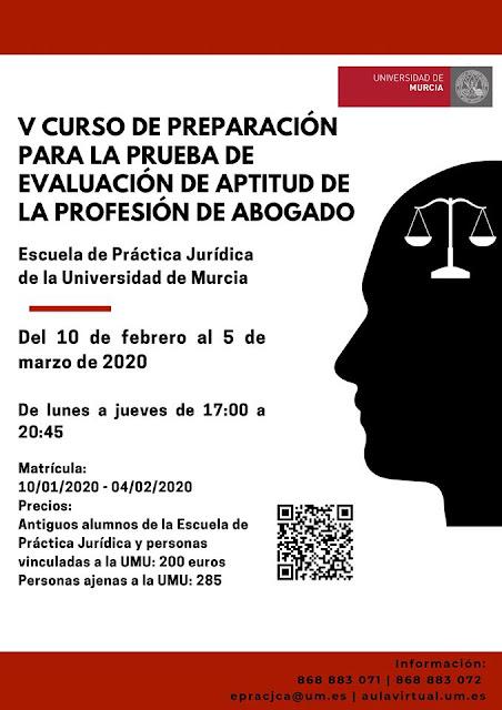 V Curso de preparación para la prueba de evaluación de aptitud de la profesión de abogado