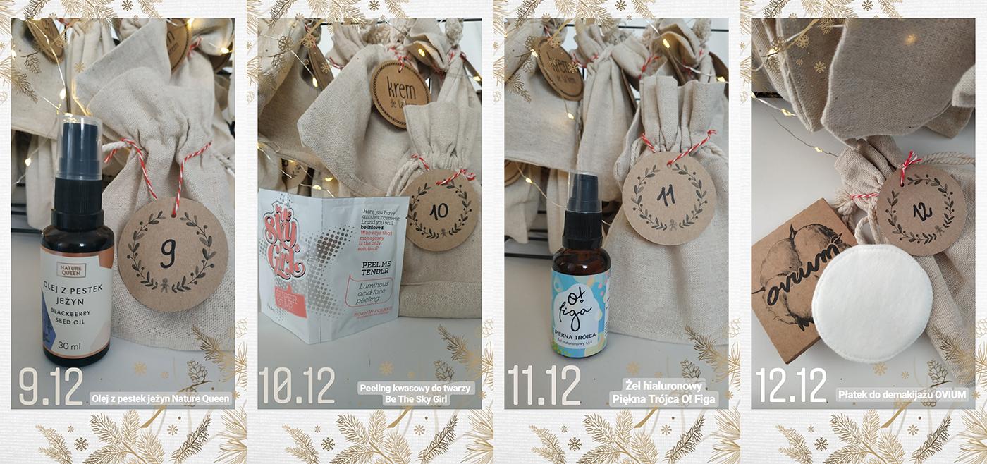 kalendarz adwentowy z naturalnymi kosmetykami blog
