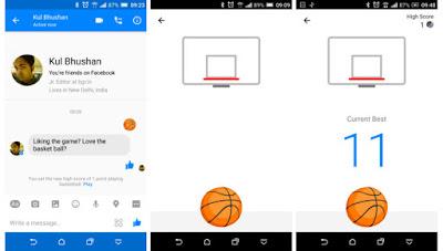 How to play Facebook Messenger hidden basketball game: