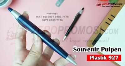 souvenir pulpen 927, Jual Plastik Biru Dongker dan Hitam 927, souvenir pulpen plastik custom logo, souvenir pen cetek, Souvenir Pen Plastik Promosi kode 927