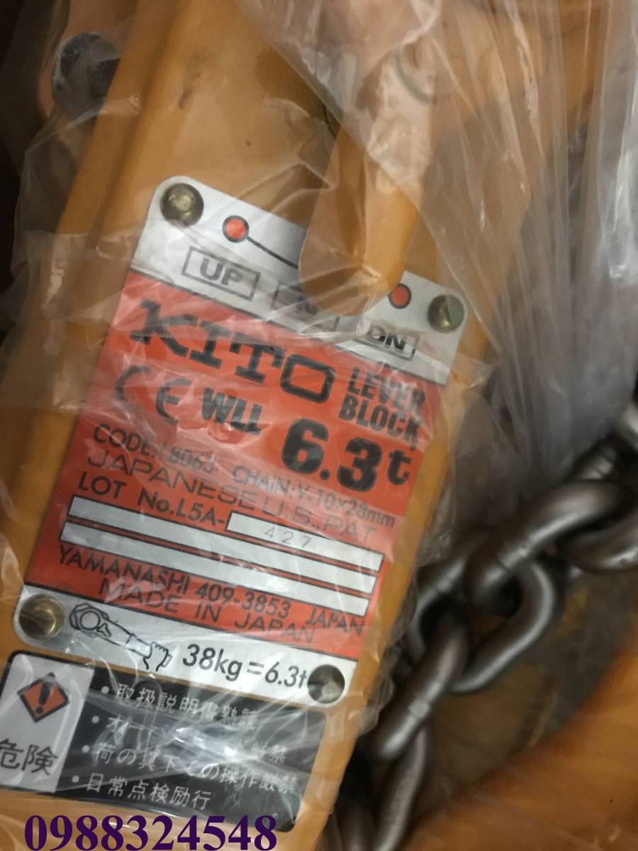 Pa lăng lắc tay Kito LB063 6.3 tấn