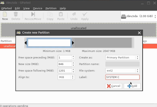Membuat partisi baru ext2 untuk install Linux di hard disk