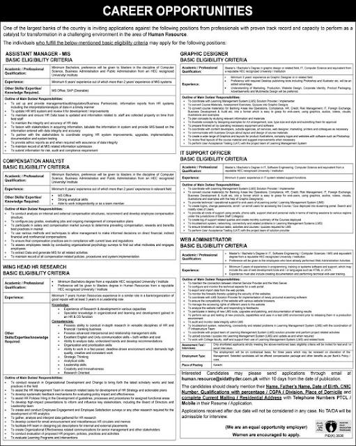 National Bank Of Pakistan NBP New Jobs 2020