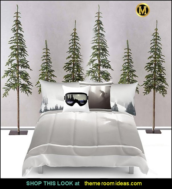 skiing bedrooms for boys   Ski cabin decorating - ski lodge decor - winter cabin decorating ski resort bedroom ideas - winter wall murals - ski chalet theme bedroom decorating ideas - modern rustic style winter cabin decor - Swiss alps decoration Alpine theme decorating - adventure bedroom design ideas - ski alps wall decal stickers - Swiss chalet mountain ski lodge murals weather themed bedroom decorating