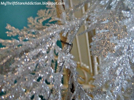 Attach garland for skirt with wire