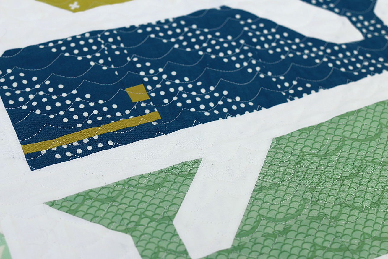 Freshly Pieced Preppy The Whale Baby Quilt