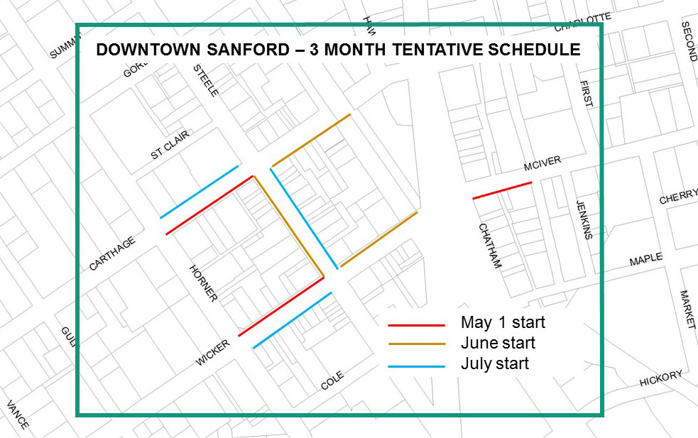 City Of Sanford Nc Streetscape Bond Project To Start Friday