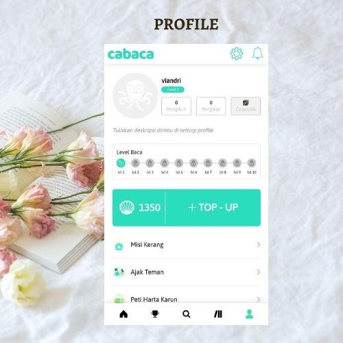 profil akun pengguna cabaca