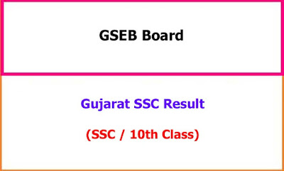 Gujarat SSC Exam Results