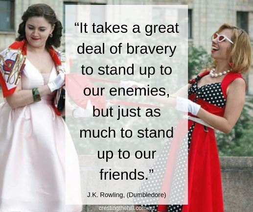 """It takes a great deal of bravery to stand up to our enemies, but just as much to stand up to our friends."" ― J.K. Rowling #quotes"