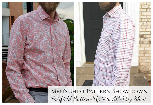 Pattern review comparing the Liesl & Co. All-Day Shirt to the Thread Theory Fairfield Button-Up.