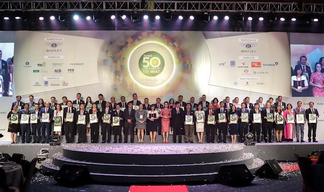 Top 50 Công ty niêm yết tốt nhất Việt Nam do Forbes bình chọn 2018
