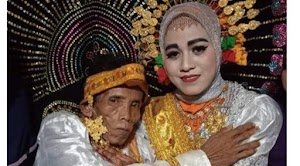 Heboh Kakek 58 Tahun Nikahi Gadis Cantik Umur 19 Tahun, Uang Panai Rp 10 Juta