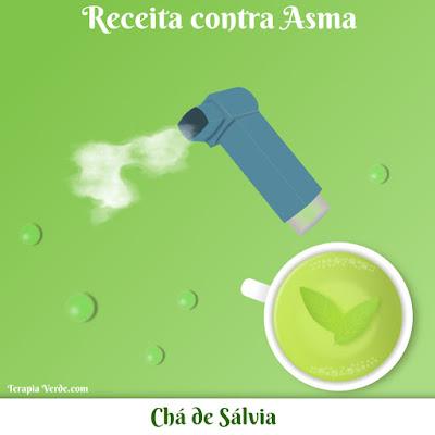 Receita Contra Asma: Chá de Sálvia