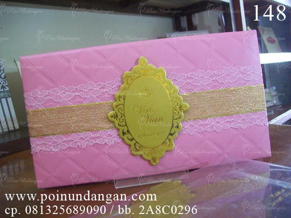 undangan hard cover pink semarang