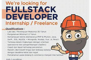 Loker Bandung Fullstack Developer Marialin Com