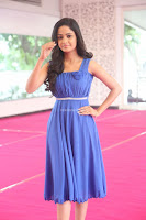 Divya Nandini stunning Beauty in blue Dress at Trendz Exhibition Launch ~  Celebrities Galleries 084.JPG