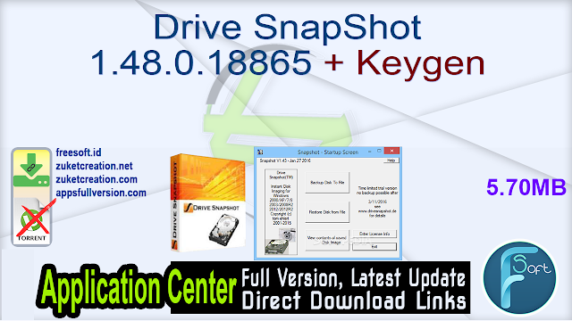 Drive SnapShot 1.48.0.18865 + Keygen