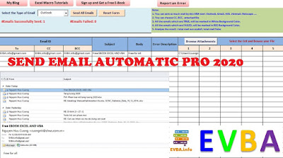 [Free Tool]New tool Excel SEND EMAIL AUTOMATICLY PRO VERSION  2.0