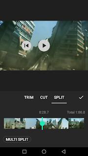 Cara edit video membagi video menggunakan aplikasi Inshot di Android