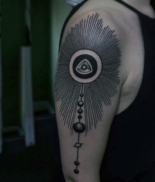 Amazing Solar System Tattoo
