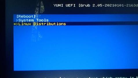 live usb ubuntu dengan yumi