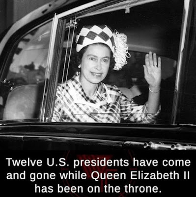 Twelve U.S presidents have come and gone while Queen Elizabeth 2 has been on the throne.