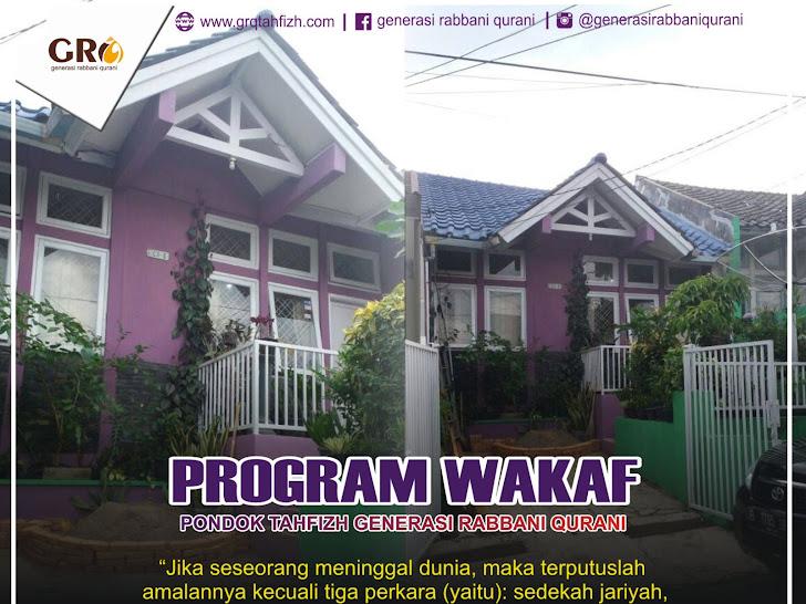 Program Wakaf Pondok tahfizh Generasi rabbani Qurani
