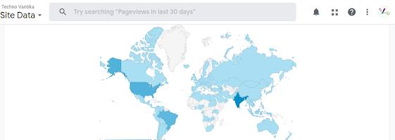 Vantika Tech Google Analytics Locations