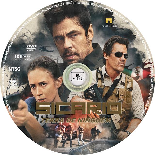 Label DVD Sicario Terra De Ninguém