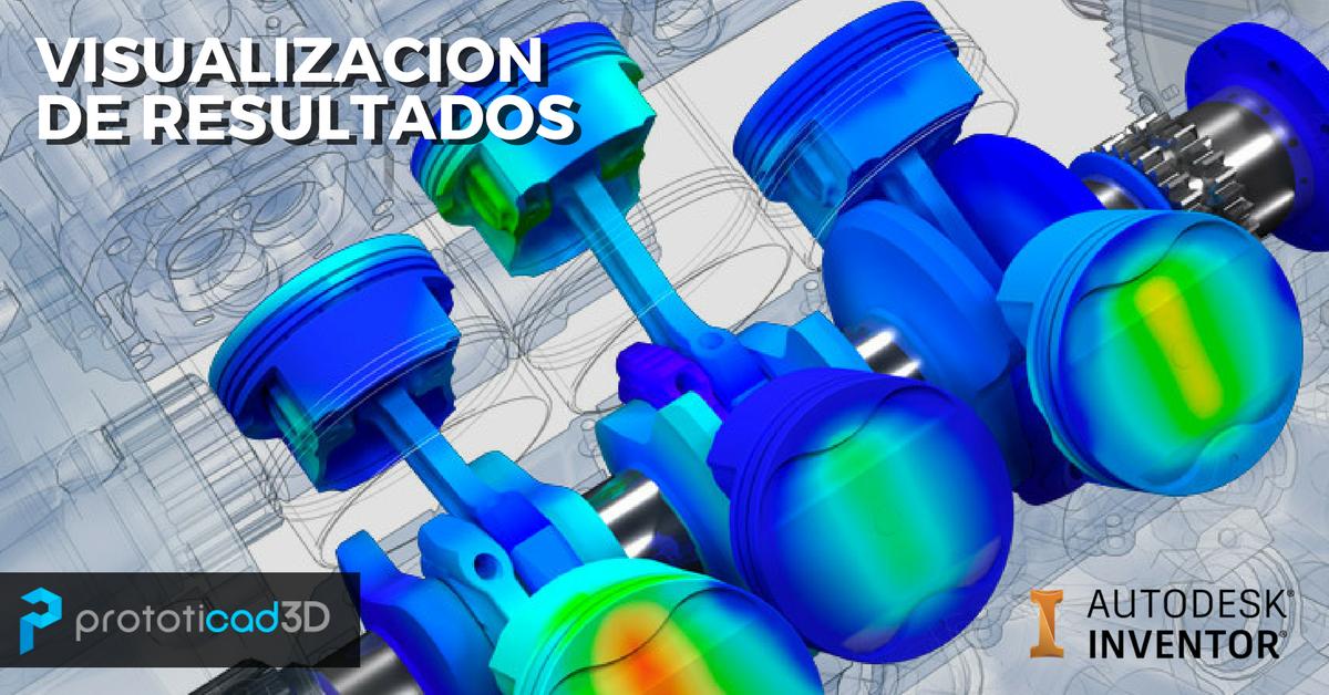 Visualización de resultados de una simulación en Inventor