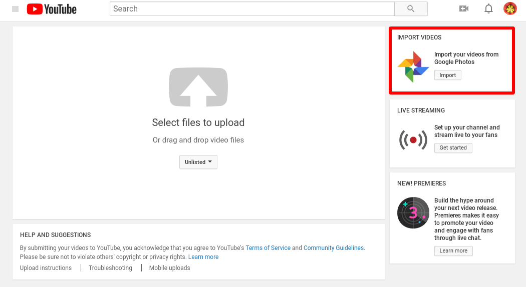 Google Photos Split From Google Drive No Longer Available For Youtube Import