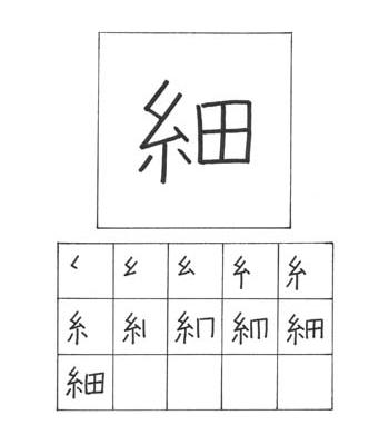 kanji tipis