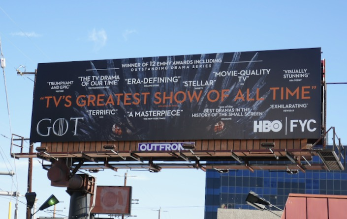 Game of Thrones 2019 HBO FYC billboard