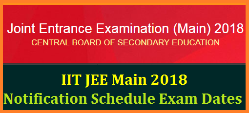MHRD CBSE IIT JEE Main Advanced 2018 Eligibility Registration Exam Dates @jeemain.nic.in