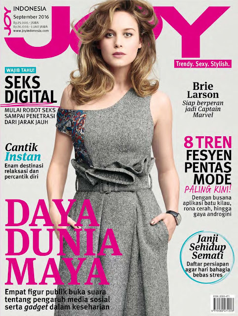 Actress, Singer, @ Brie Larson - Joy Indonesia September 2016